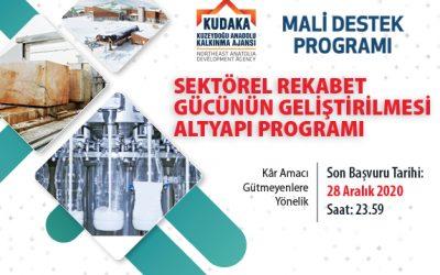 2020 Yılı Sektörel Rekabet Gücünün Geliştirilmesi Altyapı Programı İlan Edildi